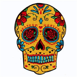 gold flower skull - Patch Club