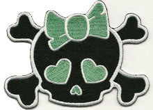 green skull bow - Patch Club