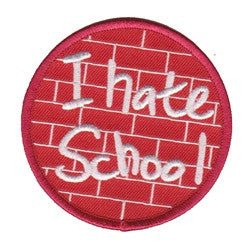 i hate school patch image