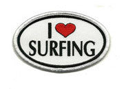 I Love Surfing patch image