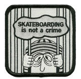 Skateboarding is not a crime patch image