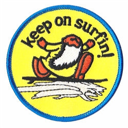 keep on surfin patch image