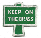 keep on the grass patch image