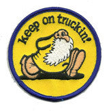 keep on truckin 1 patch image