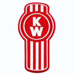 kenworth logo red and white patch image