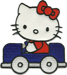 hello kitty in car patch image