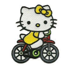 hello kitty on bike - Patch Club
