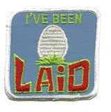 laid  - sew on only patch image