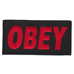 obey black patch image