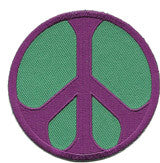 peace green purple patch image