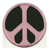 pink-black-peace patch image
