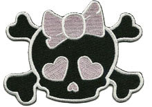 pink skull bow - Patch Club