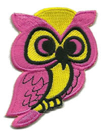 pink yellow owl patch image