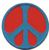 red blue peace sign - Patch Club