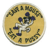 save-a-mouse  - sew on only patch image