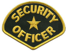 security-gold-black patch image
