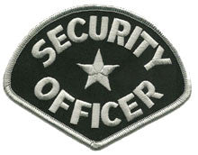 security-silver-black patch image
