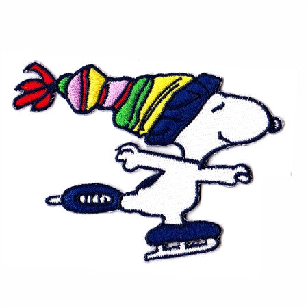 snoopy skating patch image