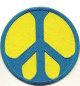 yellow blue peace patch image