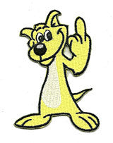 yellow-dog-finger1 patch image