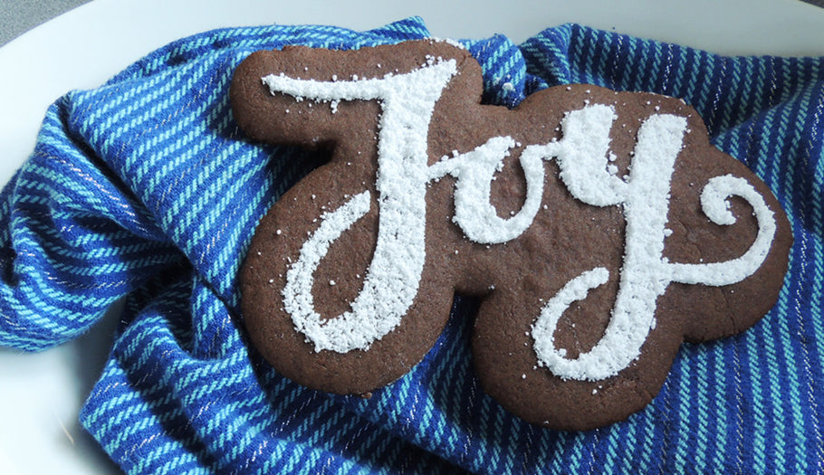 Christmas Typography Cookies
