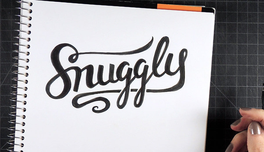 """It's Time for Snuggles"" Timelapse Lettering"
