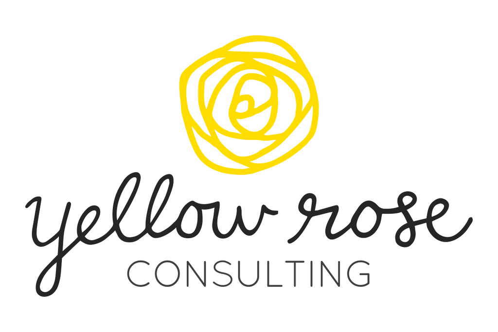 Yellow Rose Consulting Logo Design Hand Lettering