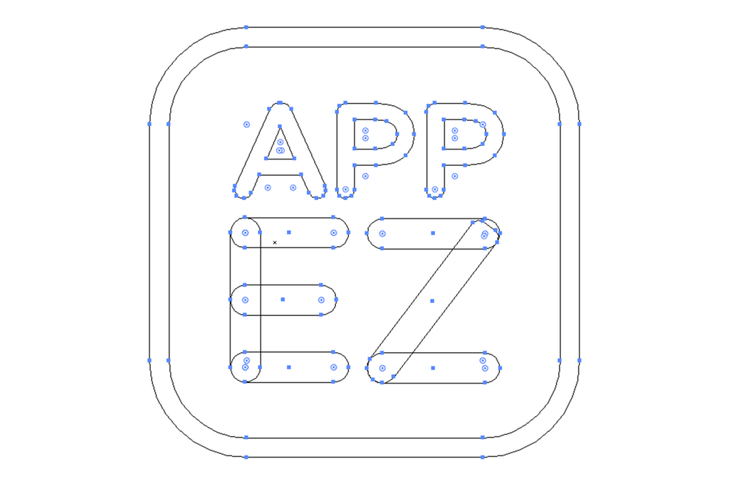 AppEZ Logo Design App Icon Vector