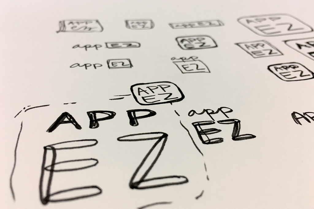 AppEZ Logo Design App Icon Sketches