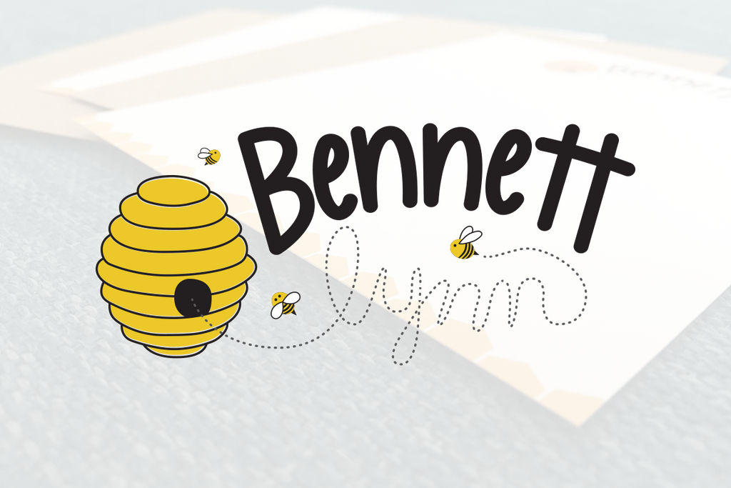 Custom Bee Stationery Design Note Cards