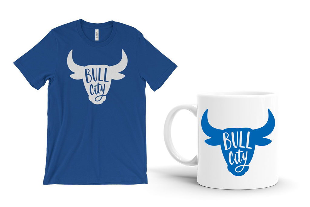Bull City Head Lettering Collection T-Shirt and Mug