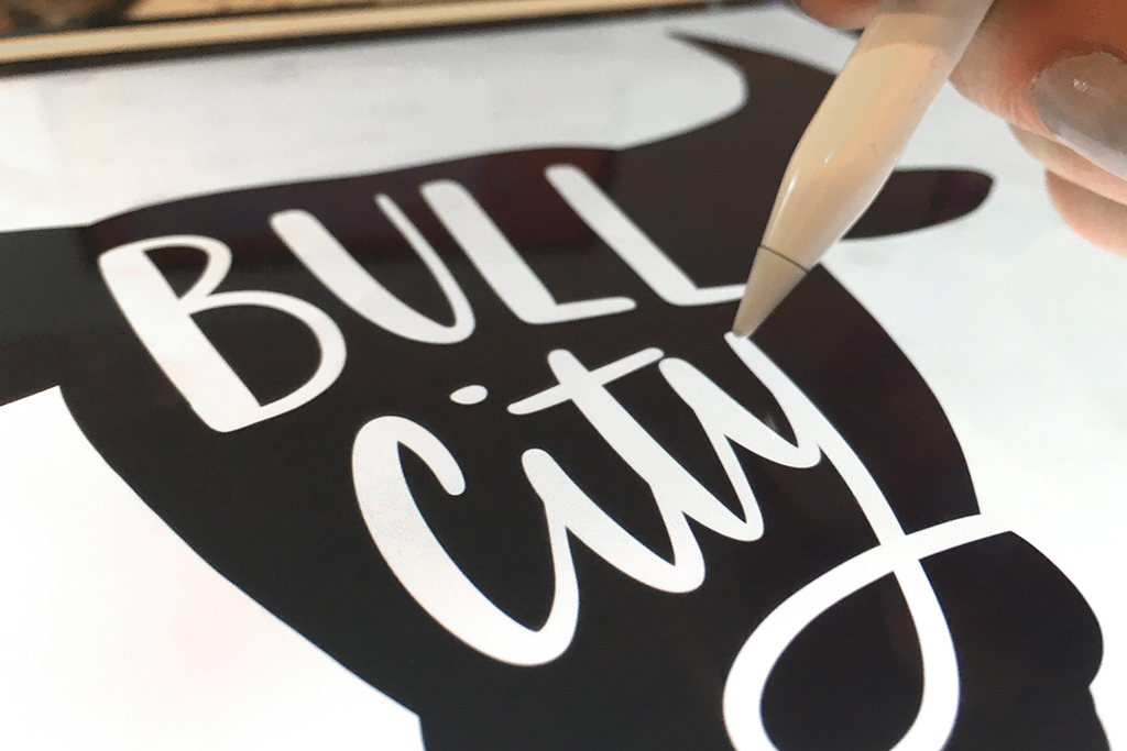 Bull City Durham, NC T-Shirt Design Hand Lettering iPad Sketches