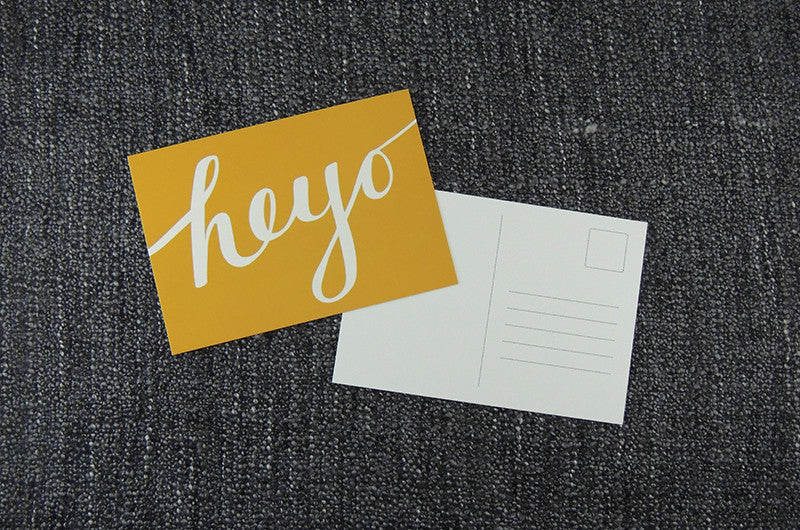 Bold Greeting Postcard - Heyo Yellow