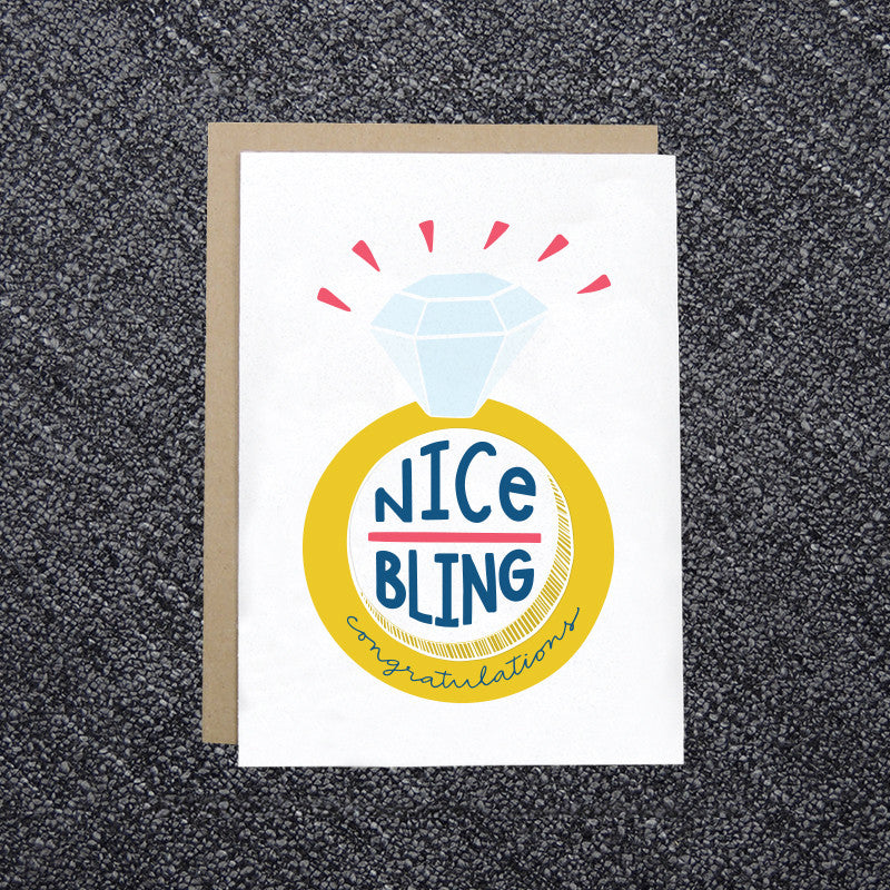 Nice Bling Engagement Card