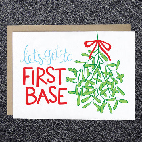 Let's Get to First Base Christmas Card