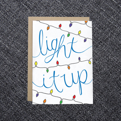 Light it Up Christmas Card