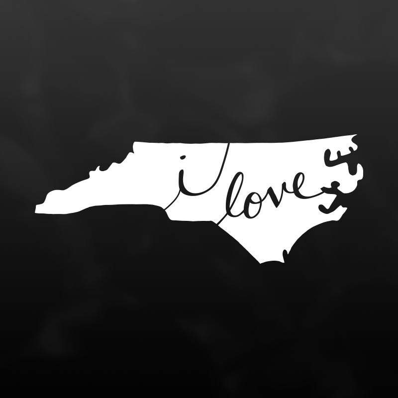 North Carolina Vinyl Decal Sticker