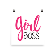 Girl Boss Square Poster Print