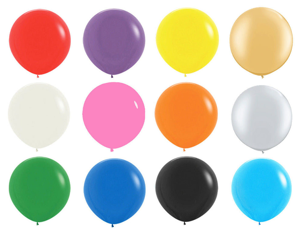 "Giant Latex 36"" Balloons, set of 5"