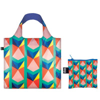 LOQI Geometric Collection Pouch Reusable Bags, set of 4