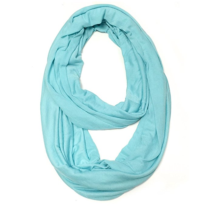 Soft Lightweight Jersey Knit Solid Infinity Scarf Jersey Circle Scarf