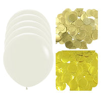 "36"" Confetti Balloons Jumbo Latex Balloons with Confetti (set of 5)"
