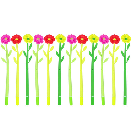 Flower Power Gel Pens (set of 12)