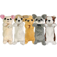Soft Plush Dog Pencil Pouch Puppy Pencil Case Stationery Pencil Holder