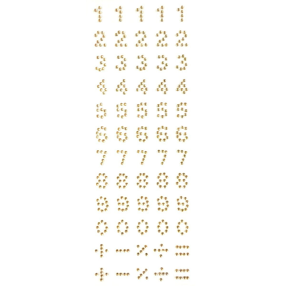 Self Adhesive Stick-on Rhinestone Numbers