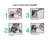 Globetrotter Nail Stickers Nail Art (24 sheets)