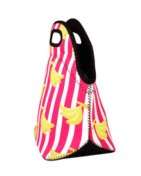 Bananas & Stripes Neoprene Lunch Tote