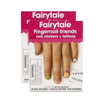 Fingernail Friends Scented Nail Stickers, Fairytale (50 stickers & 50 cuticle tattoos)