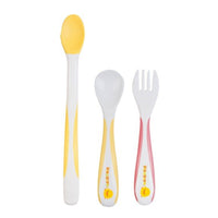 Piyo Piyo Step 1-2 Training Tableware Utensils, 3pcs