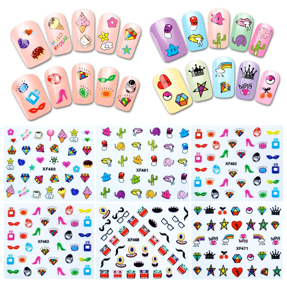 ... Funky Patterns Nail Art Nail Stickers (30 sheets) ...